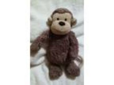 Jellycat Plush London Brown Monkey Stuffed Animal Toy 12