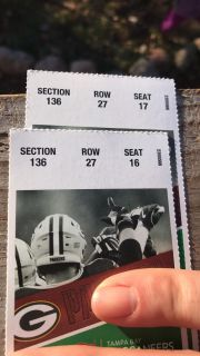 Packer tickets for this Sunday's game