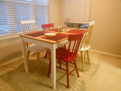 Wooden Dining table set in like new condition