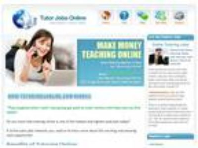Tutoring jobs get paid to teach online
