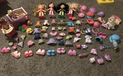 Fisher Price Snap n Style doll lot
