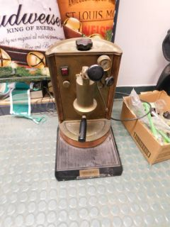 Vintage Copper brass Coffee Imports Espresso machine works