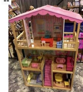 KidKraft Dollhouse. Pic above is example of a completed dollhouse.