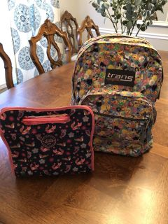 Great Condition Trans Sport Backpack and Lunch Bag