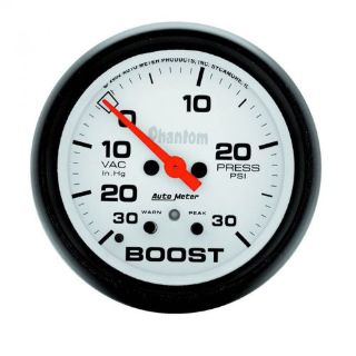 """Purchase Auto Meter 5877 Phantom 2-5/8"""" Electric Boost/Vacuum Gauge, 30 IN HG/30psi motorcycle in Lenexa, Kansas, United States, for US $244.95"""