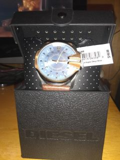 Diesel Brand Watch With Genuine Brown Leather Straps