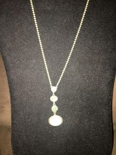 Kenneth Cole pretty silver with light blue and gray stones necklace