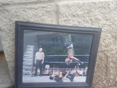 Autographed Jeff Hardy picture w/frame