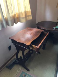 Antique table with drawer