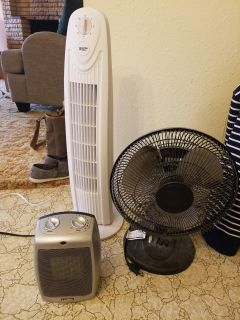 Fans and Heater