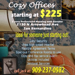 Budget Offices in San Bernardino - Furnished