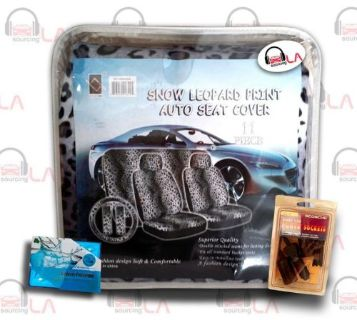 Purchase 11pc Leopard Seat Cover Set +Free JDM Accesories motorcycle in Perris, California, United States, for US $37.76