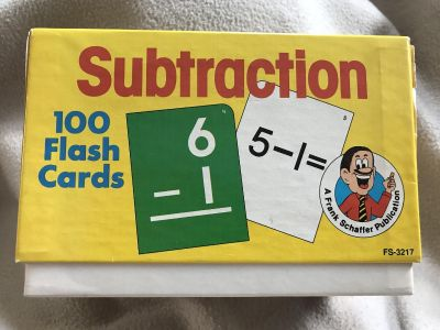 100 Subtraction flash cards