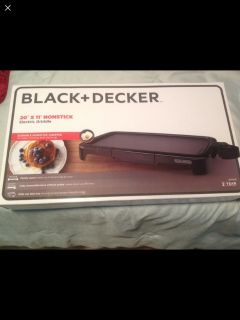 Family Size Black and Decker Griddle