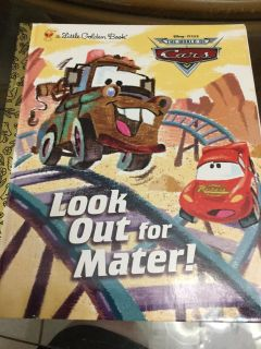 NWT! a Little Golden Book! Cars! Look Out for Mater! Children s Book! NS Meet AB Park or PPU