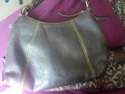Brown Leather Dooney&Bourke, Inc. Purse