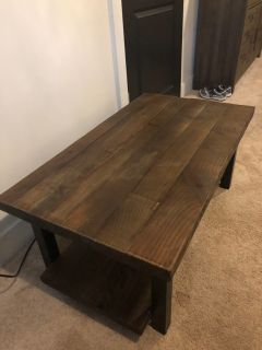 Farm House Coffee Table Repurposed Unfinished Wood
