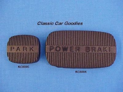 Purchase 1961 1964 Chevy Emergency & Brake Pedal Pads 1962 1963 motorcycle in Aurora, Colorado, US, for US $16.99