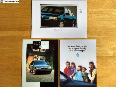1992 and 1993 Volkswagen Passat brochure pack