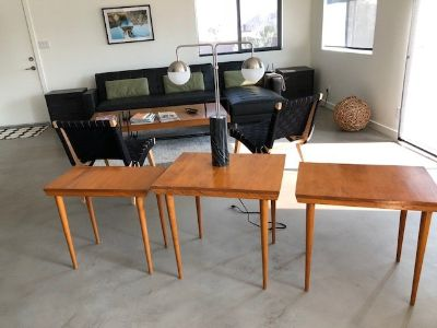 3 danish styled nesting tables
