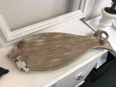 Wooden Fish Serving Board