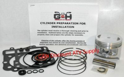 Sell Kawasaki KLF300 Bayou Cylinder Top End Rebuild Kit Machining Service KLF 300 ATV motorcycle in Somerville, Tennessee, United States, for US $167.95