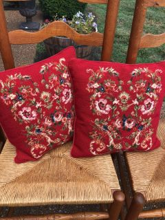 Chaps Throw Pillows Red