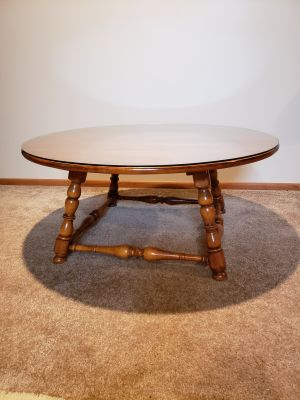 Maple Coffee Table with Glass Top