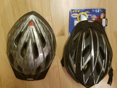 Set of two bicycle helmets