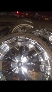 22's rims and tires $500