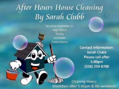 After Hours House Cleaning by Sarah Clubb