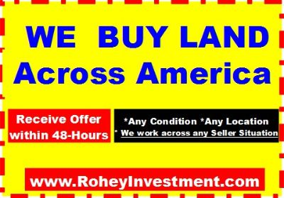We Buy LAND and APARTMENT Across  USA America