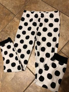 Black And White Dot Pjs Bottom Pants. Nice Condition. Size 10