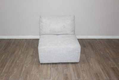 Ming Accent chair in soft gray