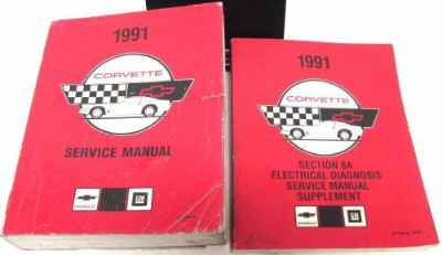 Purchase Original 1991 Chevrolet Corvette Service Manual With Supplement L98 LT5 ZR-1 motorcycle in Holts Summit, Missouri, United States, for US $119.91