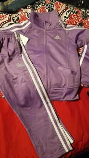NWT Toddler girls purple Adidas outfit size 4t
