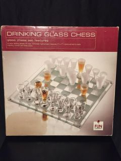 Drinking Glass Chess Game