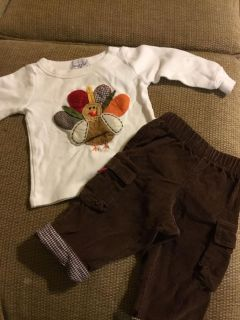 Mud pie 0-6months thanksgiving outfit *crossposted X9