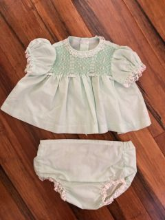 Adorable Handmade with Smocking - EUC- Size 6-9 Months