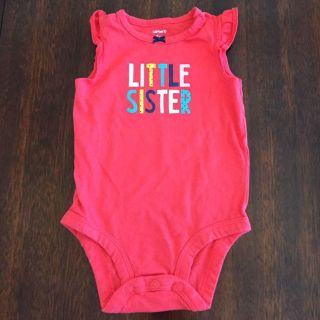 6mo girls Little Sister onesie with flutter cap sleeves by Carter s