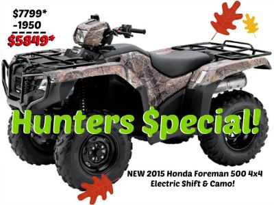 2015 Honda FourTrax Foreman 4x4 ES Utility ATVs Erie, PA