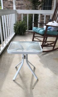 2 Glass Topped Patio Tables