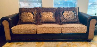 Custom sofa and swivel chair
