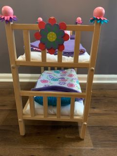 Custom made 18 doll bunk bed