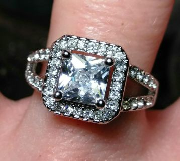 Sterling Silver & CZ rings size 6-8