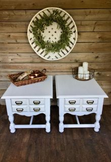 Farmhouse Inspired End Tables