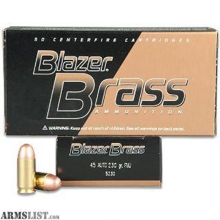 For Sale: 45 ACP Blazer Brass Ammo