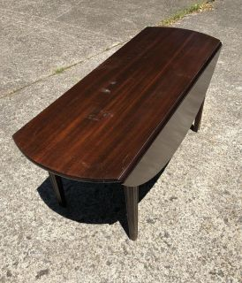 1940 s Drop-leaf Coffee Table Project Piece Solid Wood