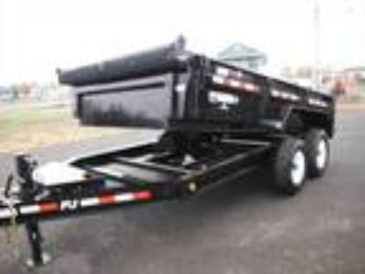 2020 PJ Trailers Dump DL 7' X 14' 16K Low Pro
