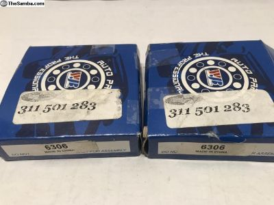 NEW Pair Rear Axle Bearings 311501283 6306 Beetle